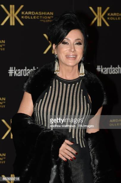Nancy Dell'Olio attending the Kardashian Kollection For Lipsy launch party at the Natural History Museum London