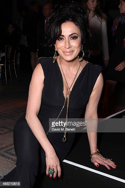 Nancy Dell'Olio attends a gala dinner celebrating the launch of Contini Art UK a new gallery opening on New Bond Street at Victoria and Albert Museum...