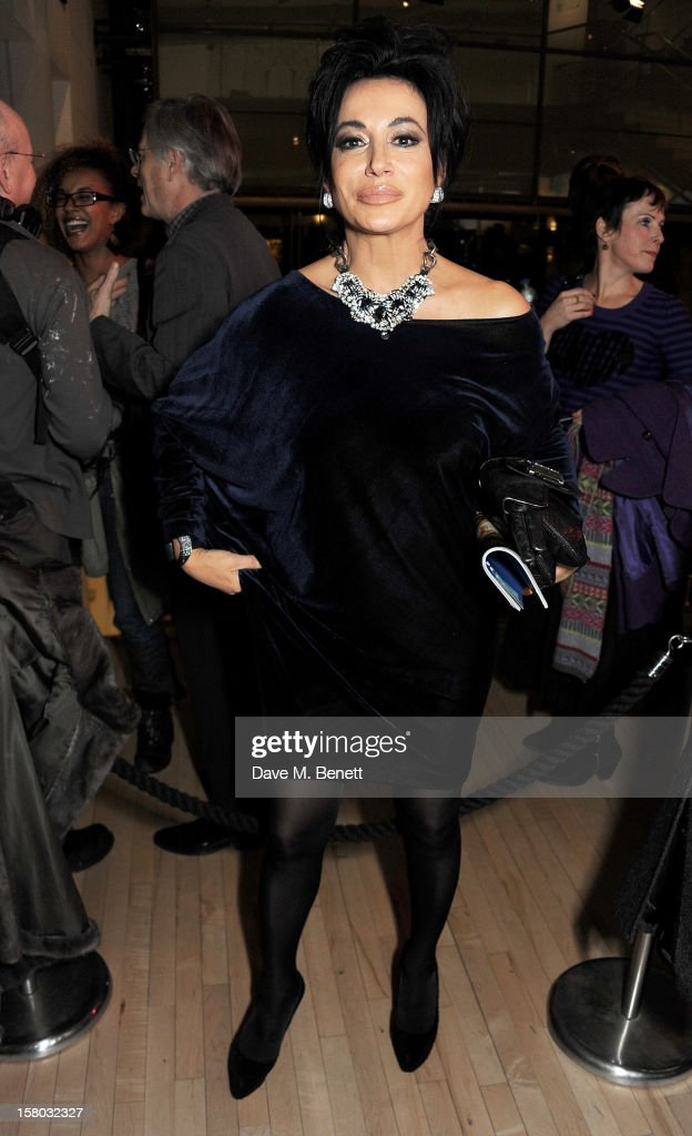 Nancy Dell'Olio attends an after party following the press night performance of Matthew Bourne's Sleeping Beauty at Sadler's Wells Theatre on December 9, 2012 in London, England.