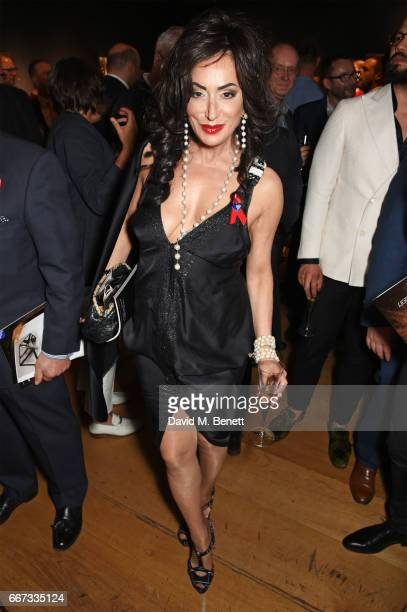 Nancy Dell'Olio attends Terrence Higgins Trust The Auction in support of people living with HIV at Christie's on April 11 2017 in London England