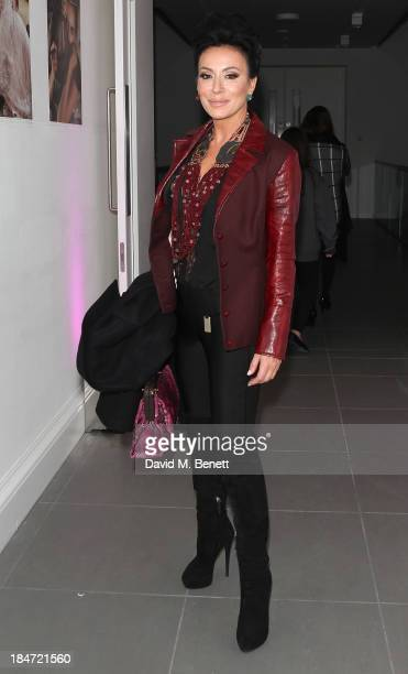 Nancy Dell'Olio attends the Candy Magazine Autumn/Winter 2013 launch party featuring the Candy GPS report at Saatchi Gallery on October 15 2013 in...