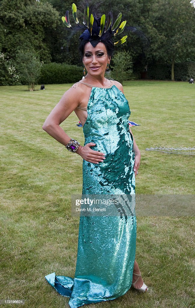 Nancy Dell'Olio attends The Elephant Family presents 'The Animal Ball' at Lancaster House on July 9, 2013 in London, England.