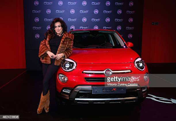 Nancy Dell'Olio attends the Fiat 500X The Power of X with Dynamo performance at the Copper Box Arena Queen Elizabeth Olympic Park on January 28 2015...