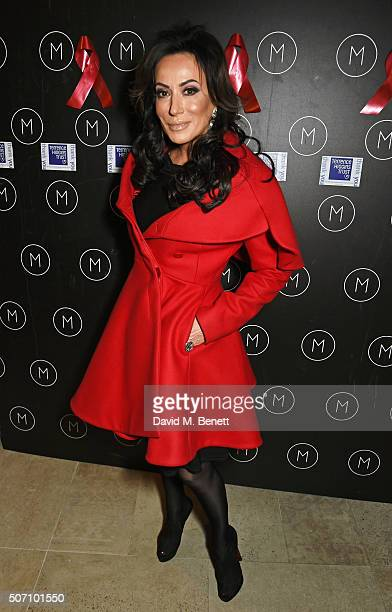 Nancy Dell'Olio attends the launch of M Victoria Street in aid of Terrence Higgins Trust on January 27 2016 in London England