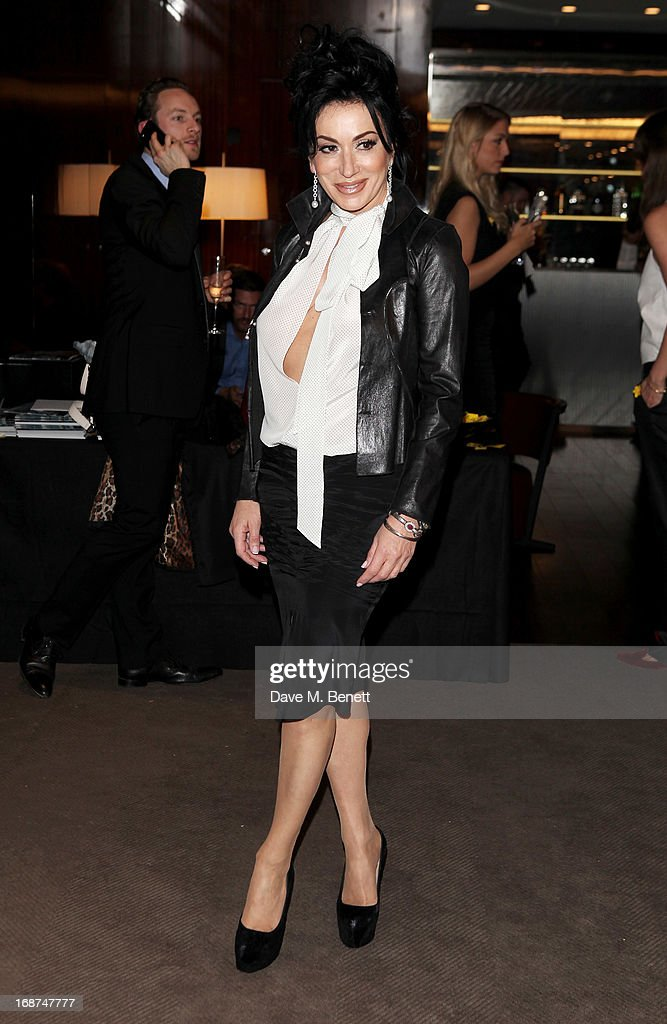 Nancy Dell'Olio attends the launch of Samsung's NX Smart Camera at a charity auction with David Bailey in aid of Marie Curie Cancer Care at the Bulgari Hotel on May 14, 2013 in London, England.