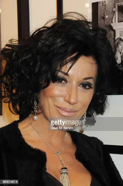 Nancy Dell'Olio attends the Out of Context exhibition at Getty Images Gallery on January 21 2010 in London England