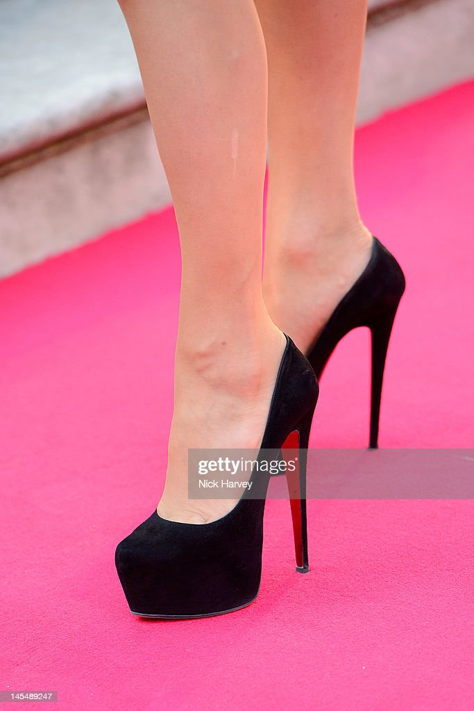 Nancy Dell'olio (shoe detail) attends the private VIP view of Royal Academy Summer Exhibition 2012 at Royal Academy of Arts on May 30, 2012 in London, England.