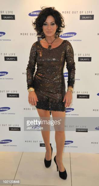Nancy Dell'olio attends the Samsung Galaxy S launch on June 15 2010 in London England