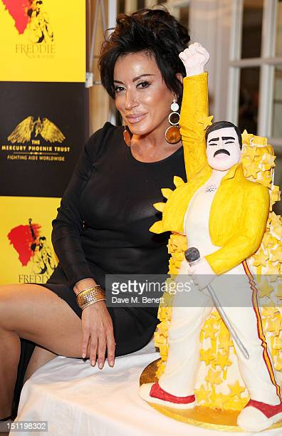 Nancy Dell'Olio attends the second annual 'Freddie For A Day' event in memory of Queen's late frontman Freddie Mercury at The Savoy Hotel on...