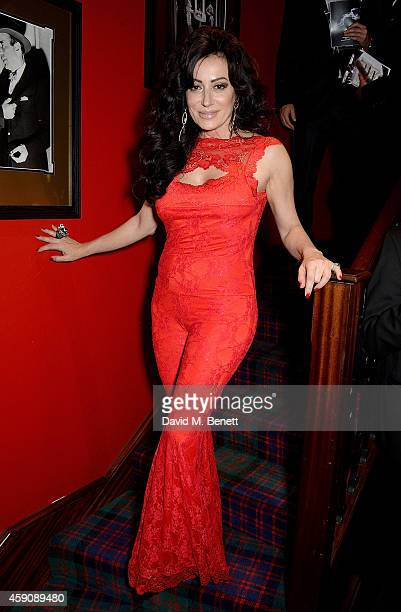 Nancy Dell'Olio attends The Spectator Cigar Awards Dinner 2014 sponsored by Mehmet Kurt of Kingwood Stud founded by Boisdale at Boisdale on November...