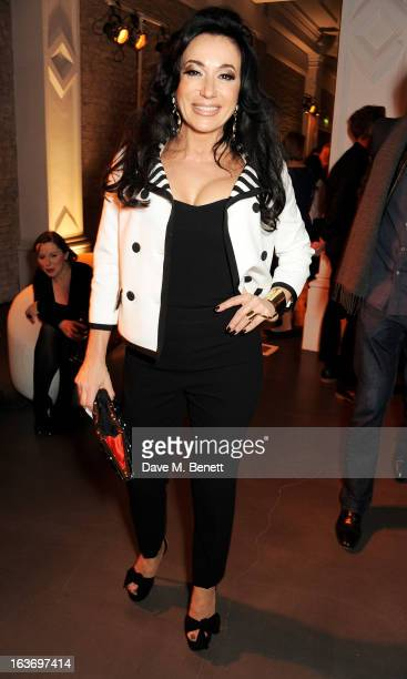 Nancy Dell'Olio attends the Swarovski Whitechapel Gallery Art Plus Fashion fundraising gala in support of the gallery's education fund at The...