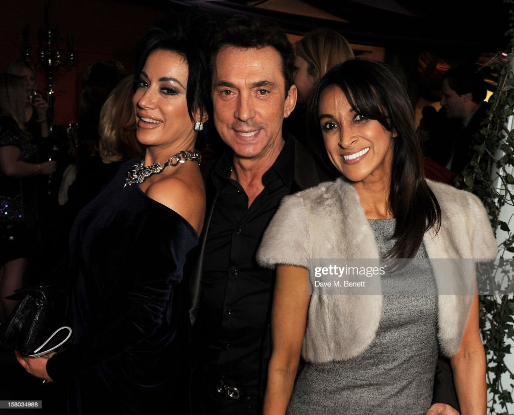 Nancy Dell'Olio, Bruno Tonioli and Jackie St Clair attend an after party following the press night performance of Matthew Bourne's Sleeping Beauty at Sadler's Wells Theatre on December 9, 2012 in London, England.