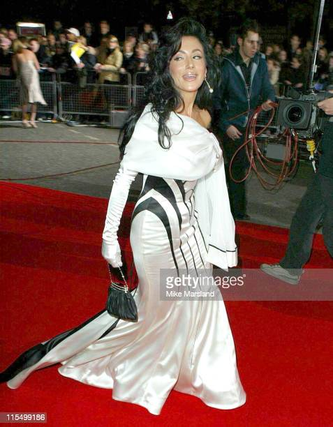 Nancy Dell'Olio during 2003 National TV Awards Arrivals at Royal Albert Hall in London Great Britain