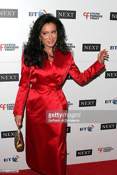 Nancy Dell'olio during Cystic Fibrosis Breathing Life Awards Arrivals at Royal Lancaster Hotel in London Great Britain