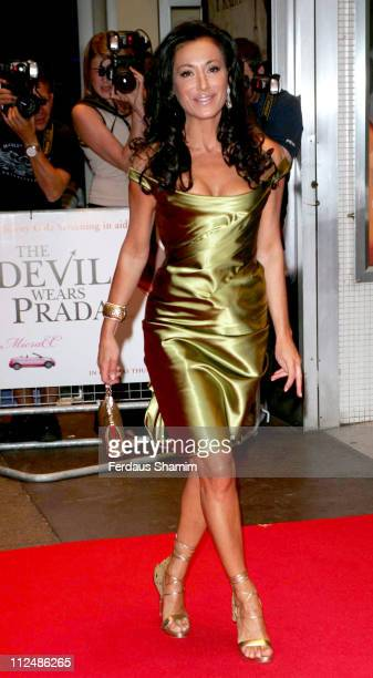 Nancy Dell'Olio during 'The Devil Wears Prada' Charity Gala Screening Outside Arrivals at Odeon in London Great Britain