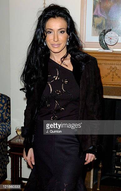 Nancy Dell'Olio during Truce International Reception at The Residence of The Israeli Ambassador in London Great Britain