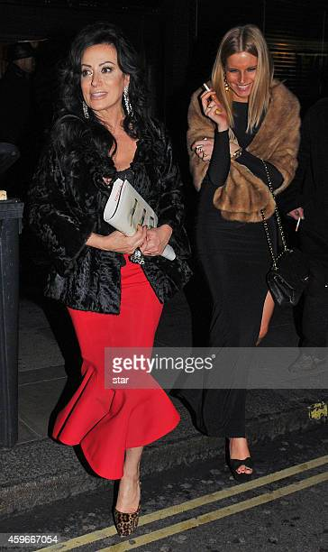 Nancy Dell'Olio is seen outside the Groucho Club on November 27 2014 in London England