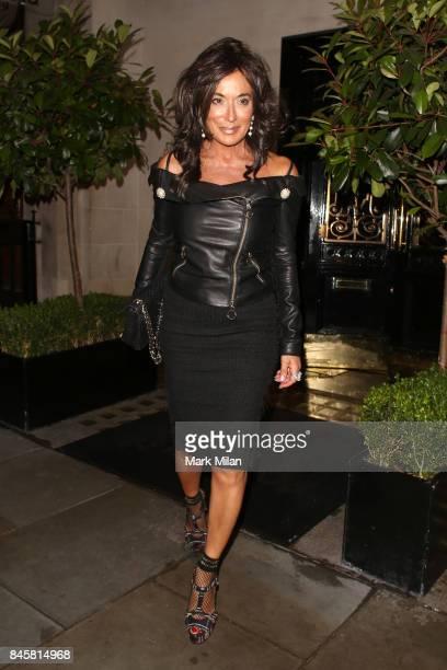 Nancy Dell'Olio leaving Scott's restaurant on September 11 2017 in London England