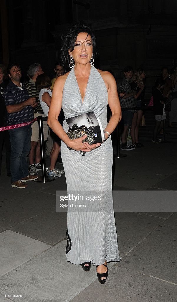 Nancy Dell'olio leaving The V&A Museum on July 25, 2012 in London, England.