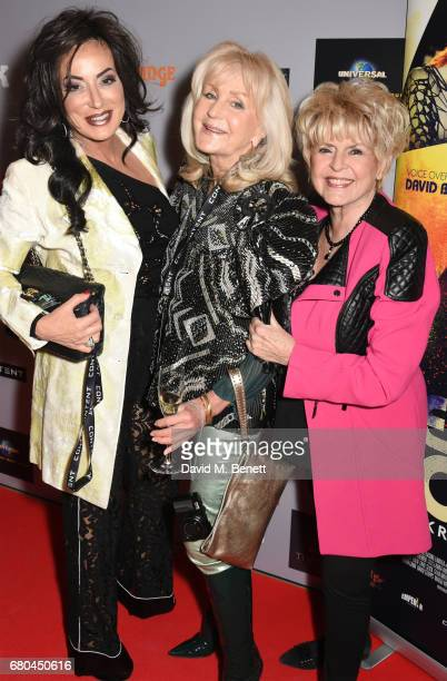 Nancy Dell'Olio Liz Brewer and Gloria Hunniford attend a VIP screening of 'Beside Bowie The Mick Ronson Story' at The May Fair Hotel on May 8 2017 in...