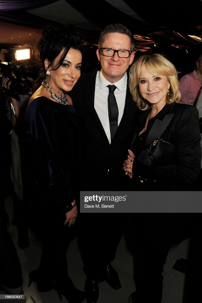 Nancy Dell'Olio, Matthew Bourne and Felicity Kendal attend an after party following the press night performance of Matthew Bourne's Sleeping Beauty at Sadler's Wells Theatre on December 9, 2012 in London, England.