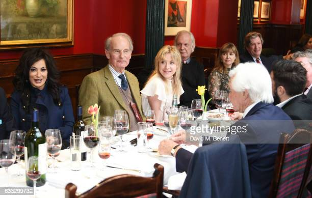 Nancy Dell'olio Nikolai Tolstoy Joanna Bell and guests attend Boisdale Life Magazine's inaugural 'Editors Lunch' at Boisdale Of Belgravia on February...