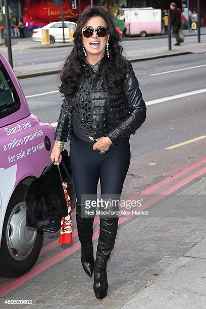 Nancy Dell'Olio seen arriving at the Vivienne Westwood fashion show on September 20 2015 in London England