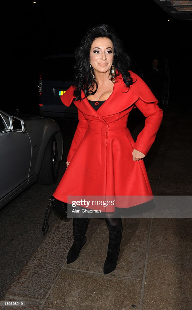 Nancy Dell'olio sighting at The Dorchester Hotel on October 30, 2013 in London, England.