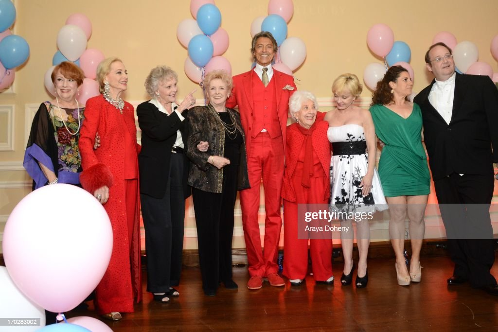 Nancy Dussault, Anne Jeffreys, June Lockhart, Millicent Martin, Tommy Tune, Charlotte Rae, Cathy Rigby, Marissa Jaret Winokur and Marc Cherry attend the the Actors Fund's 17th annual Tony Awards viewing party held at Taglyan Cultural Complex on June 9, 2013 in Hollywood, California.