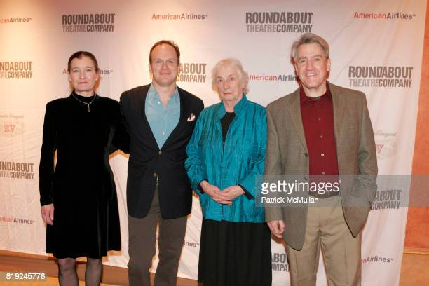 Nancy E Carroll James Joseph Oneil Alice Duffy and Richard Poe attend Opening Night of Present Laughter at American Airlines Theater on January 21...