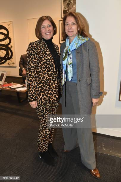 Nancy Felmen and Alison Carrie attend the IFPDA Fine Art Print Fair Opening Preview at The Jacob K Javits Convention Center on October 25 2017 in New...