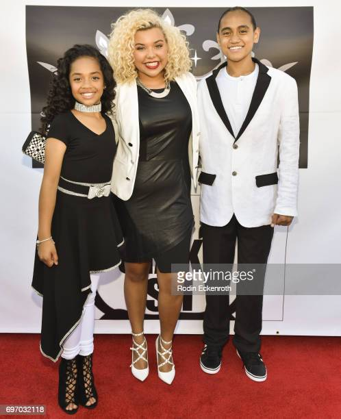 Nancy Fifita Aaliyah Rose and Siaki Sii attend the Single Release Party 'For Two' on June 16 2017 in Los Angeles California