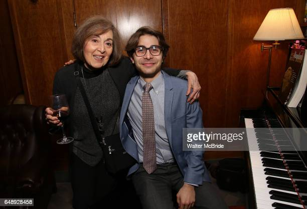 Nancy Ford and Daniel Lazour attend the Dramatists Guild Fund Salon With Rick Elice at the Cornell Club on March 6 2017 in New York City