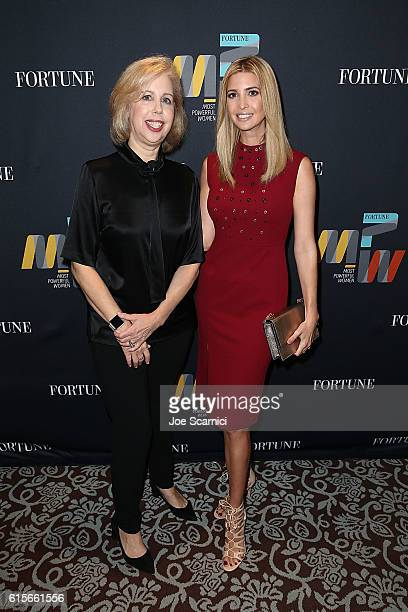 Nancy Gibbs and Ivanka Trump attend the Fortune Most Powerful Women Summit 2016 at RitzCarlton Laguna Niguel on October 19 2016 in Dana Point...