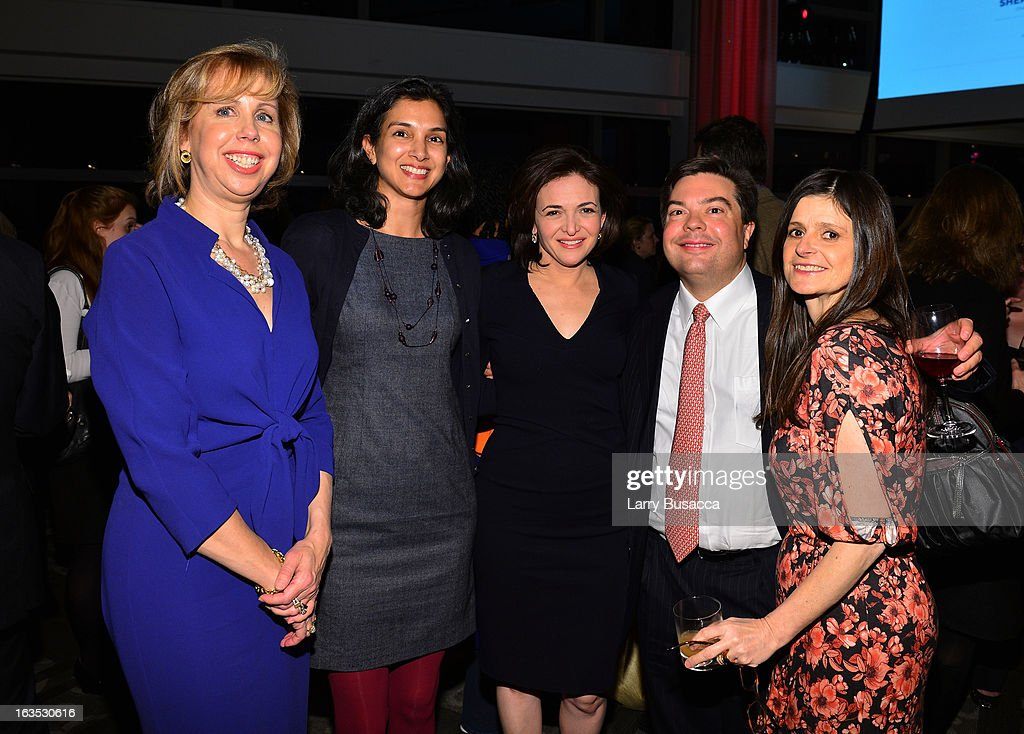 Nancy Gibbs, Sheryl Sandberg and guests attend Time Warner's Conversations on the Circle: A Conversation With Sheryl Sandberg, Chief Operating Officer, Facebook And Moderated By Nancy Gibbs, Deputy Managing Editor, TIME on March 11, 2013 in New York City.