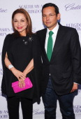 "Nancy Gonzalez and Santiago Barberi Gonzalez attend Bergdorf Goodman and Cadillac host a special screening of ""Scatter My Ashes at Bergdorf's"" in..."