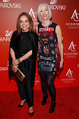 Nancy Gonzalez and Senior Vice President and Director Bergdorf Goodman Linda Fargo attend 19th Annual Accessories Council ACE Awards on November 2...