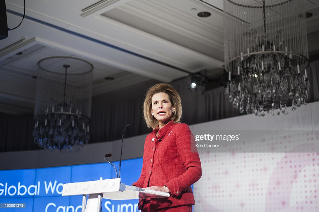 Nancy Goodman Brinker, founder and CEO of Susan G. Komen for the Cure, speaks during the 2013 Susan G. Komen Global Women's Cancer Summit on World Cancer day at the Fairmont Hotel on February 4, 2013 in Washington, DC.