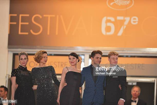 Nancy Grant Suzanne Clement Anne Dorval director Xavier Dolan and Olivier Pilon attend the 'Mommy' premiere during the 67th Annual Cannes Film...