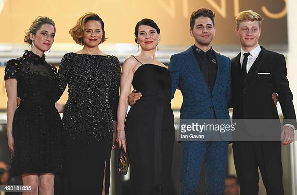 Nancy Grant Suzanne Clement Anne Dorval director Xavier Dolan and actor Olivier Pilon attend the 'Mommy' premiere during the 67th Annual Cannes Film...