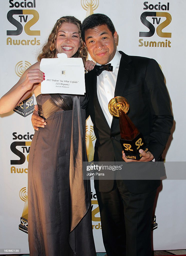 Nancy Griffin and Luis Romero attend the 2013 Latin Social TV Awards at Fontainebleau Miami Beach on February 28, 2013 in Miami Beach, Florida.