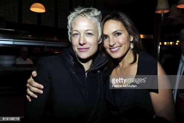 Nancy Jarecki and Mariska Hargitay attend NEXT FALL Opening Night at the Helen Hayes Theatre Party at Bond 45 on March 11 2010 in New York City