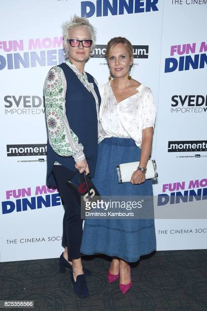 Nancy Jarecki and Naomi Scott attends the screening Of 'Fun Mom Dinner' at Landmark Sunshine Cinema on August 1 2017 in New York City