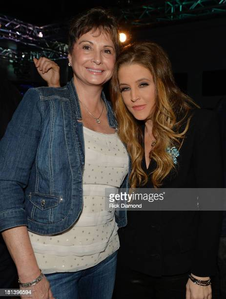 Nancy Jones and Lisa Marie Presley backstage after Lisa Marie's performance at 3rd Lindsley during the 14th Annual Americana Music Festival...
