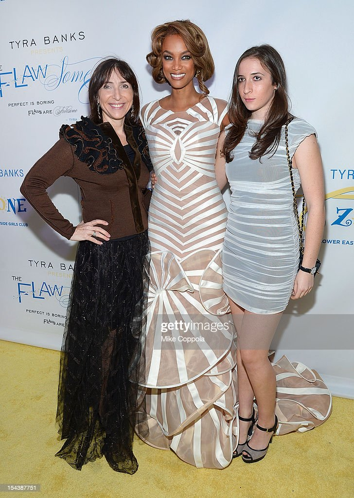 Nancy Josephson (L) and model/media personality Tyra Banks attend The Flawsome Ball For The Tyra Banks TZONE at Capitale on October 18, 2012 in New York City.