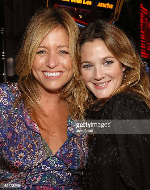 Nancy Juvonen and Drew Barrymore during World Premiere of 'Borat Cultural Learnings of America For Make Benefit Glorious Nation of Kazakhstan' Red...
