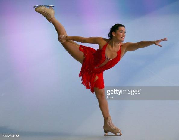 Nancy Kerrigan performs during the PG WalMart 'Tribute to American Legends of the Ice' at Izod Center on December 11 2013 in East Rutherford New...