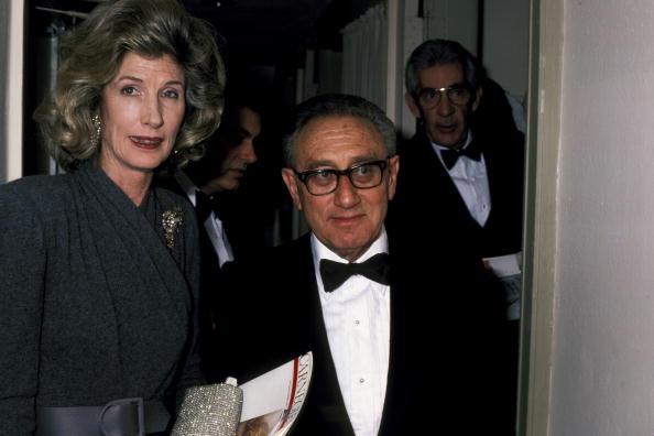 Nancy Kissinger and Henry Kissinger during 38th Annual Humanitarian ...