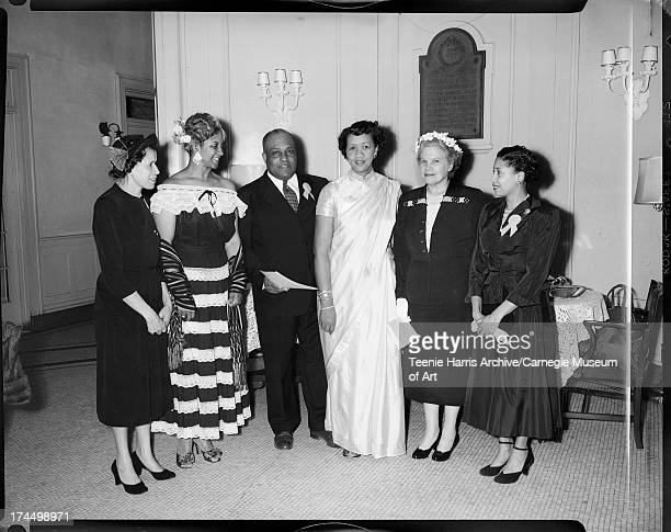Nancy Lee Ethel Ramos Harris B H Logan Dorothy Height Mrs George L West and Florence May gathered for World Fellowship Service program at Central...