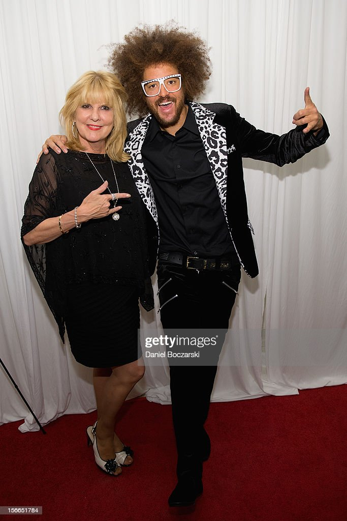 Nancy Leiviska and Redfoo aka Redfoo of LMFAO attends An Evening with Berry Gordy at the Art Institute Of Chicago on November 17, 2012 in Chicago, Illinois.